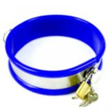 BDSM (БДСМ) - Stainless Steel Neck Collar Adjustable LARGE SIZE BLUE