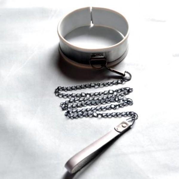 BDSM (БДСМ) - <? print Ошейник из нержавеющей стали большого размера - белый; ?>