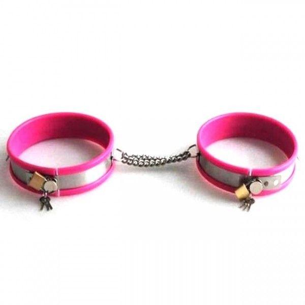 Розовые регулируемые наручники
