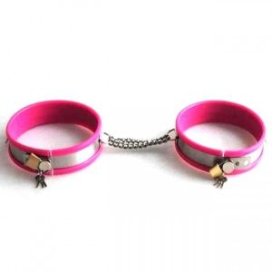 Pink adjustable handcuffs. Артикул: IXI40519