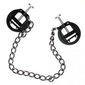 plastic press nipple clamps with metal chain