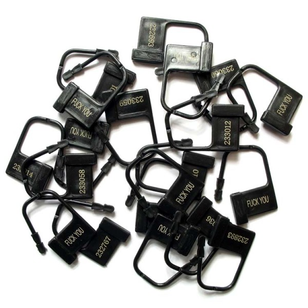 The plastic locks for chastity belt, 10 pieces. Артикул: IXI40594