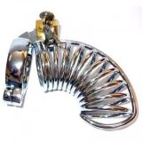 Metal Long Centipede Chastity Device with Two Rings