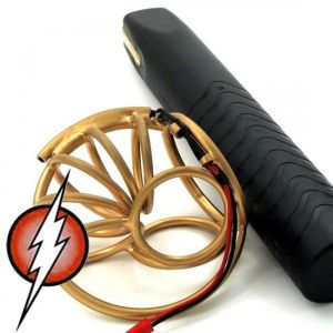 Electric horror Arc Welding Twilight E-Stim Penis Masturbation Golden Tusk Cock Cage