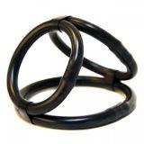BDSM (БДСМ) - Силиконовые кольца на пенис черного цвета