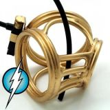 BDSM (БДСМ) - Electric Shock E-Stim Electrosex Golden Crown Circus Made From Expensive Brass