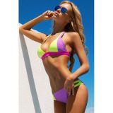 Women Purple Green Sexy Bikini Swimwear