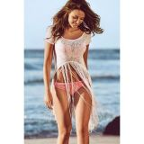 White Lace T-shirt Sexy Fringed Beachwear по оптовой цене