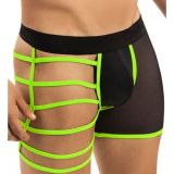 Mens boxers with neon inserts