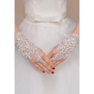 Белые кружевные перчатки - Перчатки