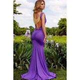 Evening long dress purple