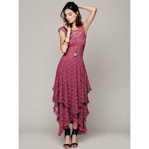 Платье Maxi розовое - * Большие размеры