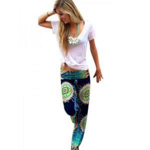 Леггинсы в цветочный принт - Штаны, брюки