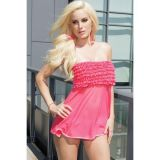 Pink Tickled Ruffle Babydoll Set