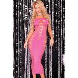 Big Spender Long Pink Tube Dress