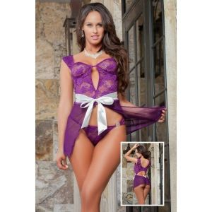 Purple negligee Babydoll
