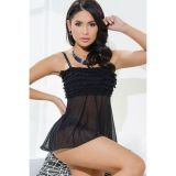 Black Tickled Ruffle Babydoll
