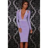 Shoulder Cutout Long-Sleeve Jersey Dress