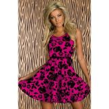 Rosy Floral Skater Dress Summer Mini Dress