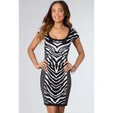 Zebra Print Bon-conscious Vintage Dress