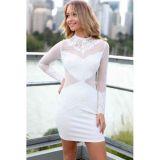 Romance Lace White Vintage Dress
