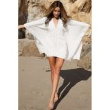 White light poncho for beach