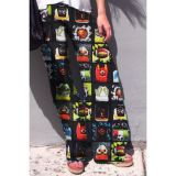 Grid To Draw Women Print Palazzo Pants