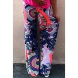Floral Print Loose Fitting Straight Palazzo Pants