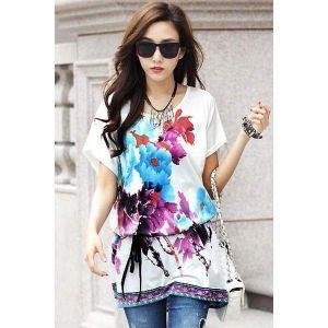 Туника с цветочным принтом - Кофты, блузы