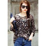Korea Fashion Leopard Print Chiffon Top