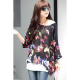 Allover Butterflies Elegant Chiffon Blouse
