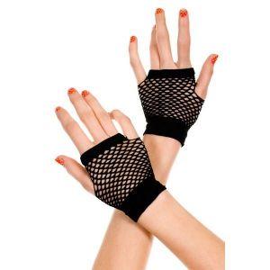 Черные сетчатые перчатки - Перчатки