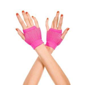 Розовые короткие перчатки - Перчатки