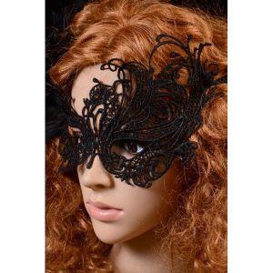 Кружевная черная маска для ролевых игр