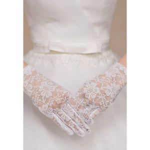 Кружевные белые перчатки - Перчатки
