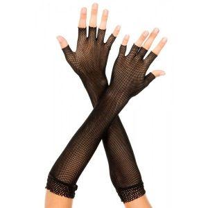 Ажурные черные перчатки - Перчатки