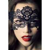 Mask of black lace