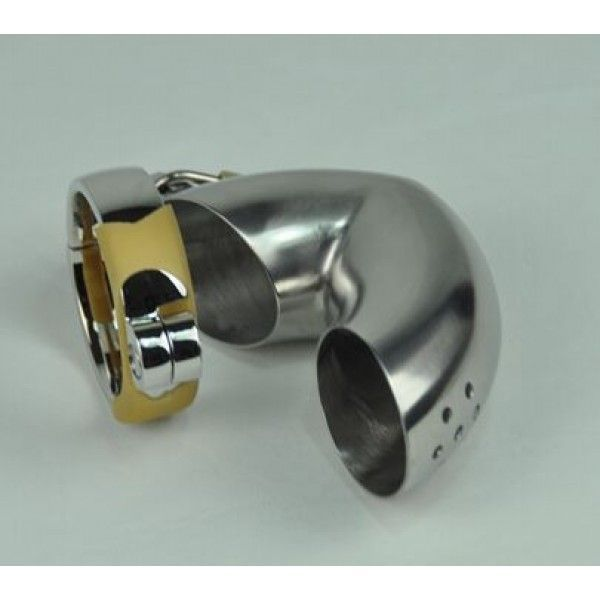 BDSM (БДСМ) - Plum blossom hole winding Male Chastity Device/ Stainless Steel Male Sprinkler Chastity Cage