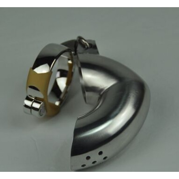 BDSM (БДСМ) - <? print Plum blossom hole winding Male Chastity Device/ Stainless Steel Male Sprinkler Chastity Cage; ?>