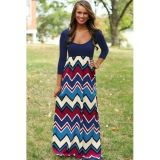 Best Day Ever Chevron Print Maxi Dress