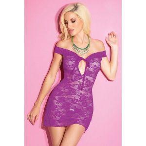 Фиолетовое кружевное платье - Пеньюары