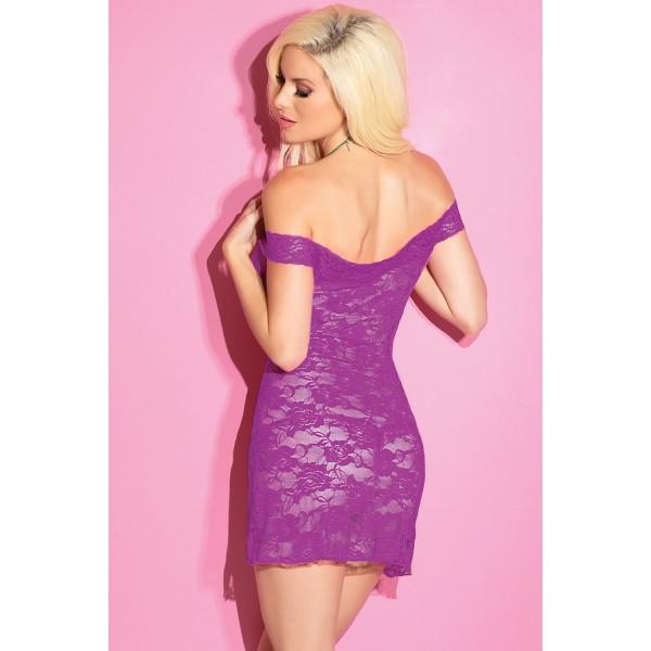 Purple Lace Dress Lingerie