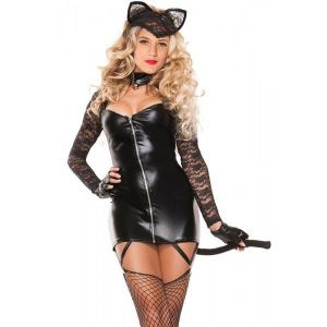 2pcs Sexy Lace Cat Costume