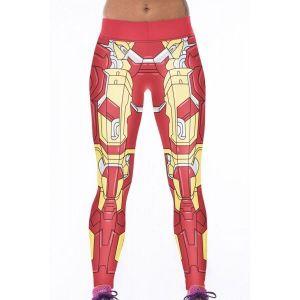 Красные леггинсы с массивным принтом - Спортивная одежда