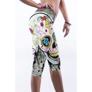 Леггинсы с ярким принтом для спорта и йоги - Спортивная одежда