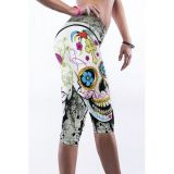 Leggings with colorful print for sports and yoga