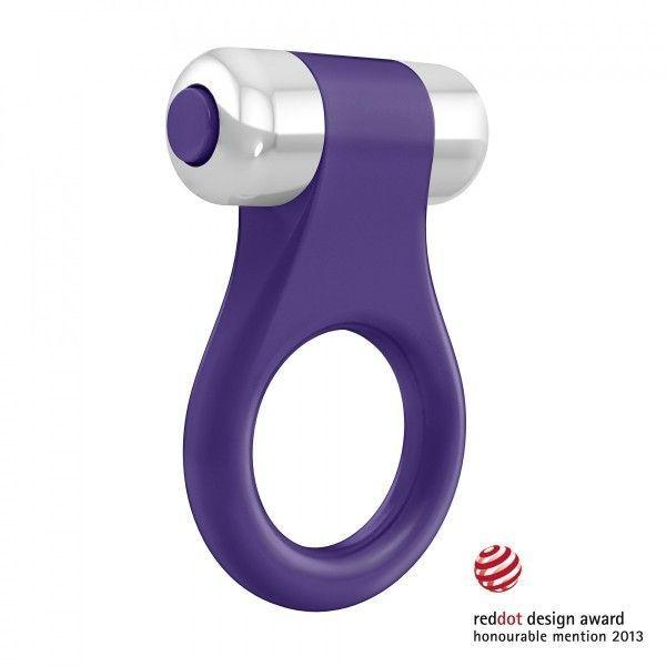 Вибрационное кольцо фиолетового цвета