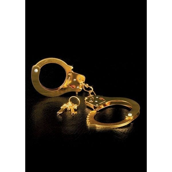 Золотые металлические наручники