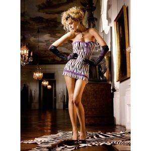 Animal Mini Dress Os (42-46), Zebra. Артикул: IXI43768