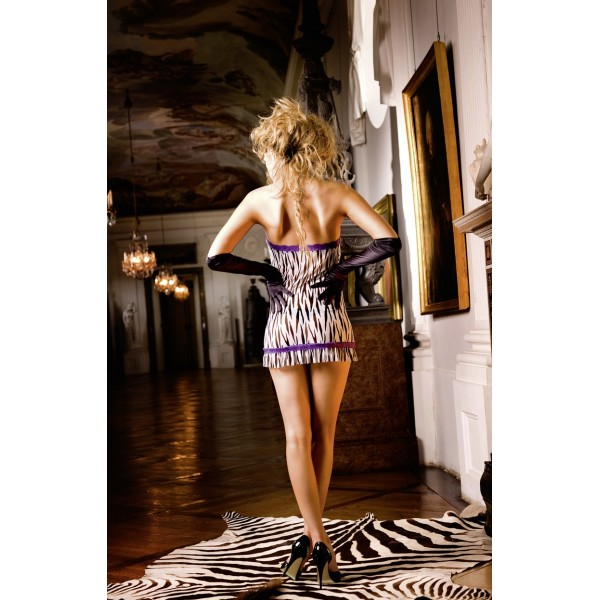 SALE! Animal Mini Dress Os (42-46), Zebra. Артикул: IXI43768